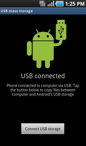 USB Mode Android connection