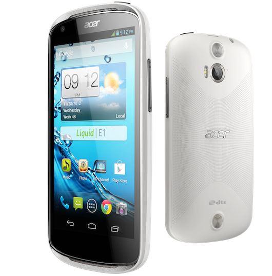 Acer Liquid E1 Android smartphone