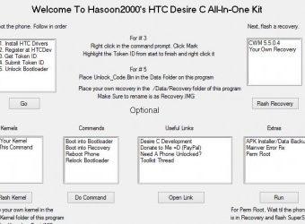 HTC Desire C AIO Toolkit