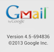 Latest Gmail apk file