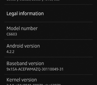 Android 4.2.2 Jelly Bean Leaked Xperia Z