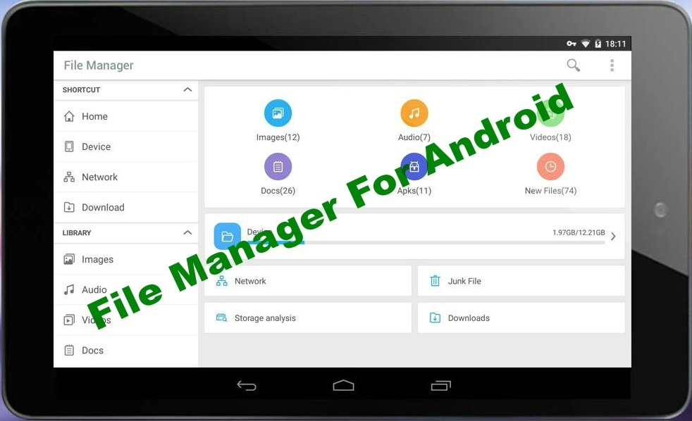 download manager find android